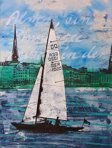 Meike Kohls, Dragon - Sailboat, Verkehr: Ship, Landscapes: Sea/Ocean, Contemporary Art