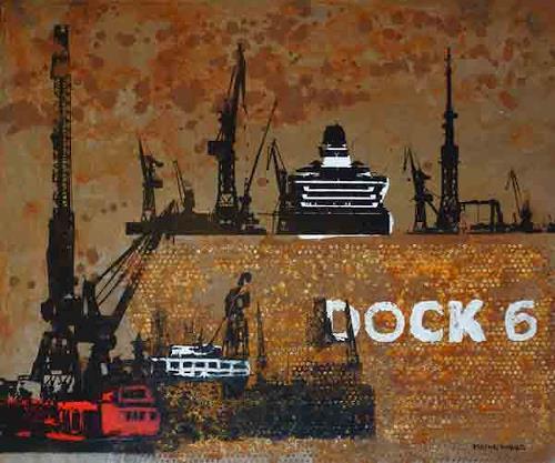 Meike Kohls, DOCK 6, Landscapes: Sea/Ocean, Verkehr: Ship, Pop-Art, Abstract Expressionism