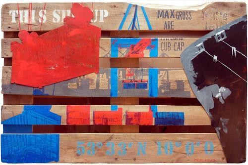 Meike Kohls, Europalette Container Terminal, Verkehr: Ship, Landscapes: Sea/Ocean, Pop-Art