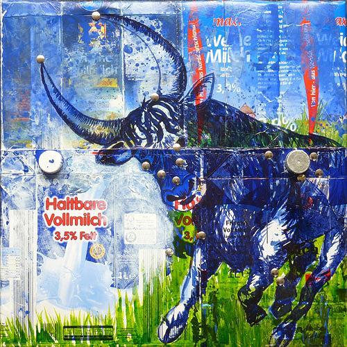Meike Kohls, Stier in der Milchstrasse, Animals: Land, Mythology, Pop-Art, Abstract Expressionism