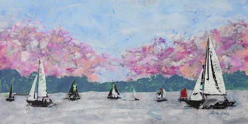 Meike Kohls, Alsterfrühling, Landscapes: Spring, Landscapes: Sea/Ocean, Contemporary Art