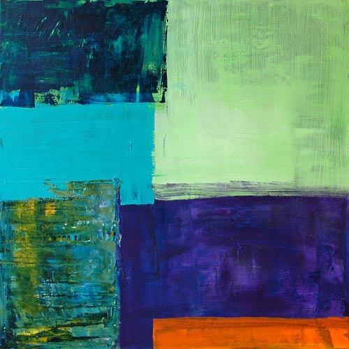 Claudia Färber, Goldfisch, Abstract art, Decorative Art, Colour Field Painting