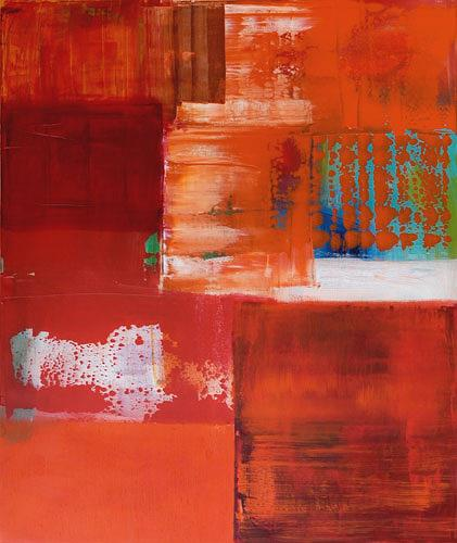 Claudia Färber, Rot geworden, Abstract art, Decorative Art, Colour Field Painting