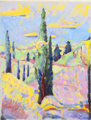 Christophorus Hardenbicker, Samos-Garten 2015, Landscapes, Impressionism