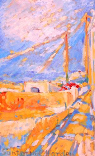 Christophorus Hardenbicker, Santorini1998, Landscapes: Spring, Impressionism
