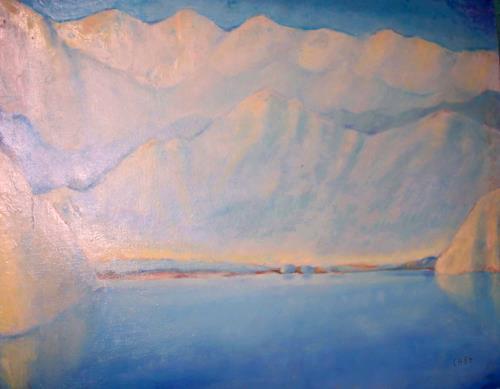 Christophorus Hardenbicker, See-Schweiz 1984, Landscapes: Sea/Ocean, Impressionism