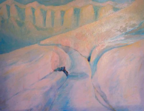 Christophorus Hardenbicker, Schneeberg 1983, Landscapes: Mountains, Impressionism