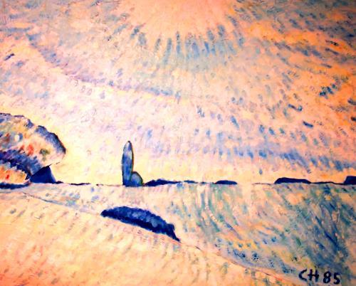 Christophorus Hardenbicker, Frühmorgens 1985, Landscapes: Spring, Impressionism