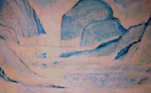 Christophorus Hardenbicker, Östl.Berge 1987, Landscapes: Mountains, Impressionism