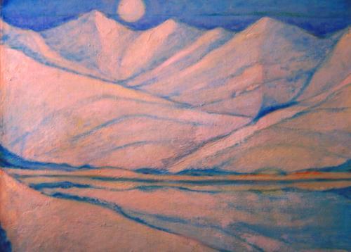 Christophorus Hardenbicker, Schneeberge 1984, Landscapes: Mountains, Impressionism