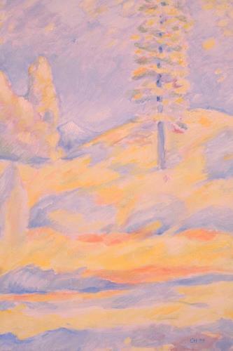 Christophorus Hardenbicker, Schneeberg 1999, Landscapes: Mountains, Impressionism