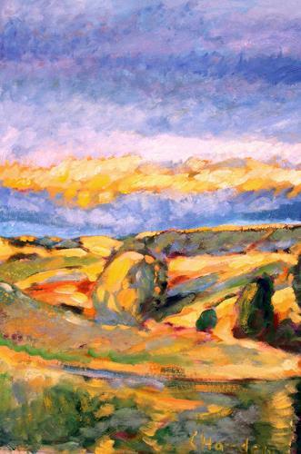 Christophorus Hardenbicker, Bergisches Land 1998, Landscapes: Autumn, Impressionism