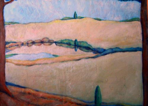 Christophorus Hardenbicker, Mühlteich 1981, Landscapes: Hills, Impressionism
