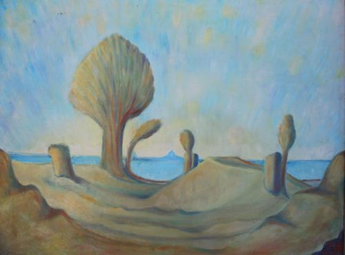 Christophorus Hardenbicker, Wüstenweg 1983, Landscapes: Sea/Ocean, Impressionism