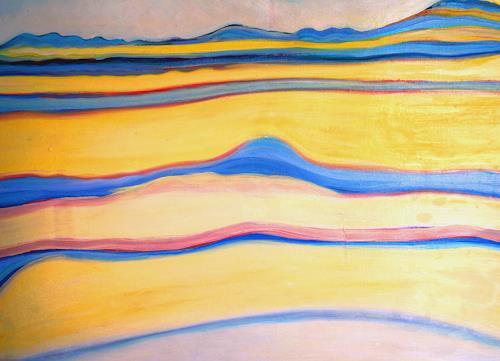 Christophorus Hardenbicker, Frühling 1986, Landscapes: Hills, Impressionism