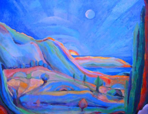Christophorus Hardenbicker, Samos verstecktes Tal 2013, Landscapes: Sea/Ocean, Impressionism