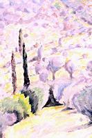 Christophorus-Hardenbicker-Landscapes-Hills-Modern-Age-Impressionism