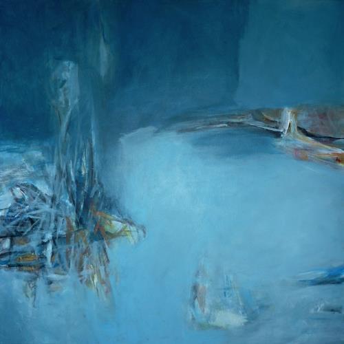 Manuela Rauber, landschaft 001, Miscellaneous Landscapes, Abstract art, Contemporary Art, Expressionism