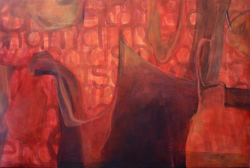 Manuela Rauber, das drama atmet schwer, Abstract art, Emotions: Fear, Contemporary Art, Abstract Expressionism