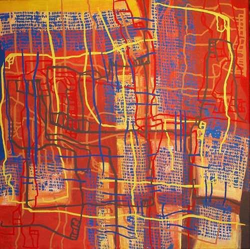 Manuela Rauber, Gesellschaftsnetz, Abstract art, People: Group, Abstract Art
