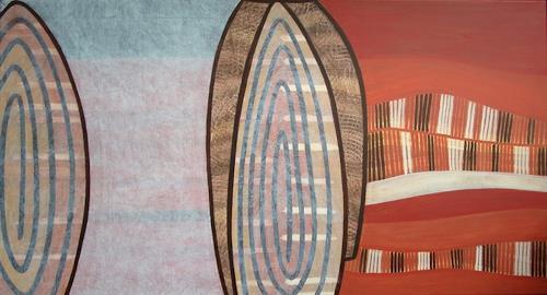 Manuela Rauber, Traumzeit 1, Abstract art, Nature: Earth, Contemporary Art