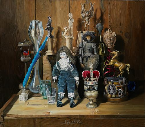 Michael Lassel, Traumlexikon einer Puppe, Still life, Fantasy, Contemporary Art, Expressionism