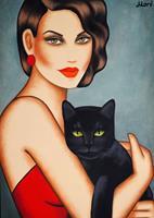 Ekaterina Moré, Girl with a black cat
