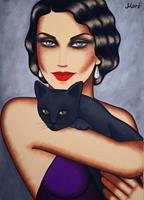 """E. Moré, Leinwandbild """"Cats"""