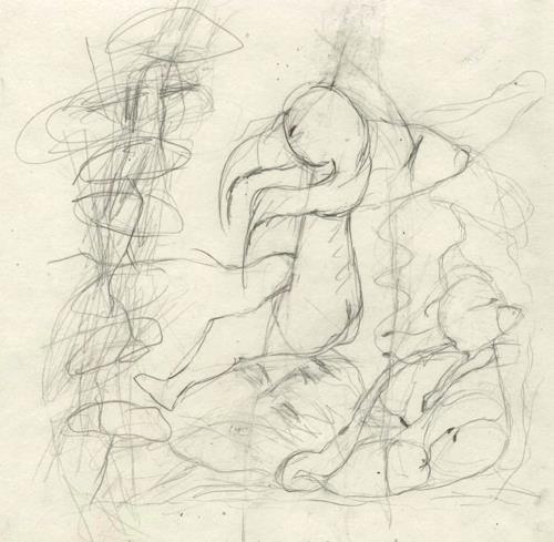 Regina Grahl, Das Kind sitzt auf dem vergrabenen Gesicht. Es weiss noch nicht das, was es ist., Miscellaneous Emotions, Hunting, Abstract Expressionism