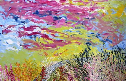 waldraut hool-wolf, farben im wind, Landscapes: Summer, Landscapes: Autumn, Land-Art