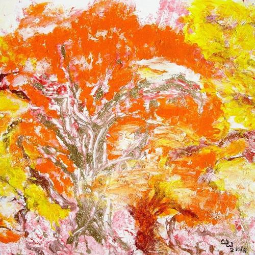 waldraut hool-wolf, September im Wald, Landscapes: Autumn, Nature: Wood, Land-Art