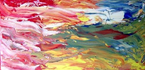 waldraut hool-wolf, farbenspiel der fantasie, Abstract art, Abstract art, Neo-Expressionism