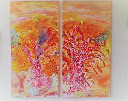waldraut hool-wolf, Im licht der farben, Abstract art, Landscapes: Spring, Contemporary Art