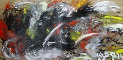 waldraut hool-wolf, farbenspiel (3), Abstract art, Abstract art, Neue Wilde