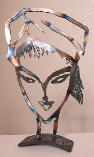 waldraut hool-wolf, woman's library, Abstract art, People: Faces, Pop-Art