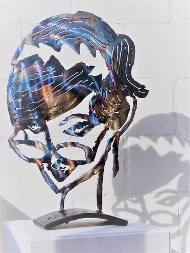 waldraut hool-wolf, Durchblick, Abstract art, People: Faces, Pop-Art