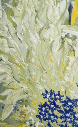 waldraut hool-wolf, edelgrün, Fantasy, Landscapes: Spring, Neo-Expressionism