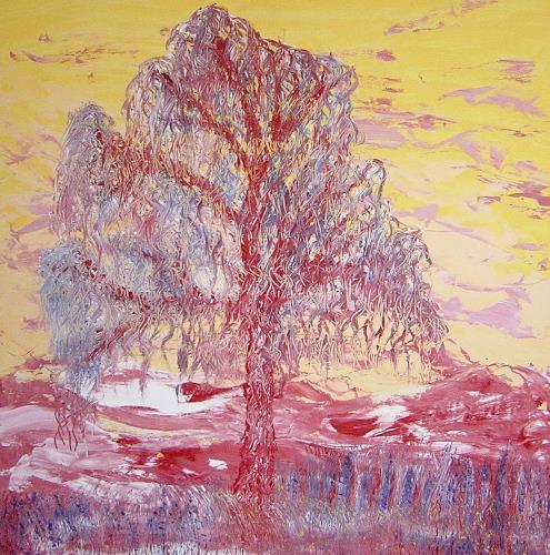 waldraut hool-wolf, sogno, Abstract art, Plants: Trees, Neo-Expressionism