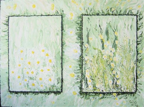 waldraut hool-wolf, weisse blume, Landscapes: Spring, Plants: Flowers, Contemporary Art