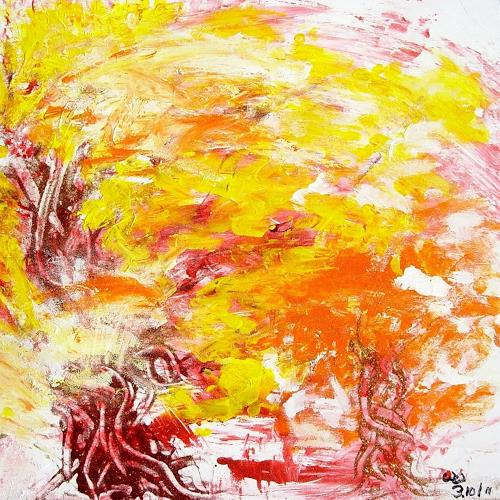 waldraut hool-wolf, September im Wald, Landscapes: Autumn, Nature: Wood, Contemporary Art