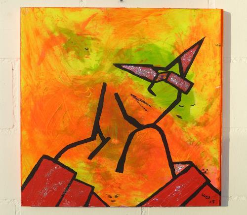 waldraut hool-wolf, lady in orange, People: Women, People: Portraits, Modern Age