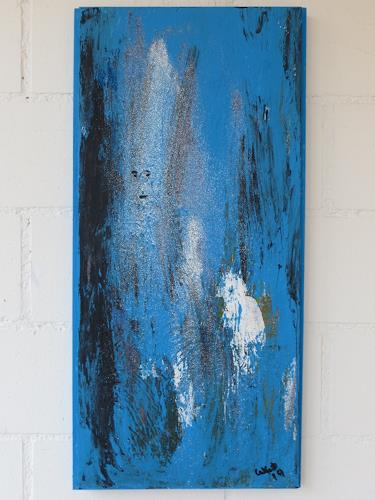 waldraut hool-wolf, blue blue time, Abstract art, Fantasy, Contemporary Art