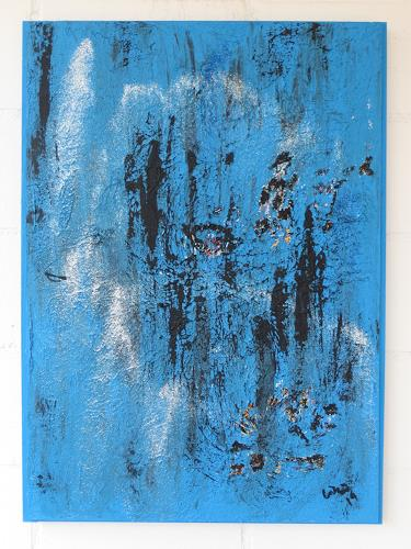 waldraut hool-wolf, blue blue time, Abstract art, Fantasy, Contemporary Art, Expressionism