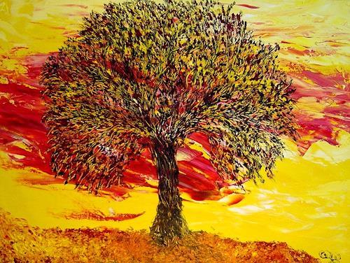 waldraut hool-wolf, nero verde albero, Abstract art, Fantasy, Neo-Expressionism