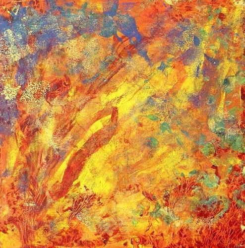 waldraut hool-wolf, arancia, Abstract art, Abstract art, Neue Wilde
