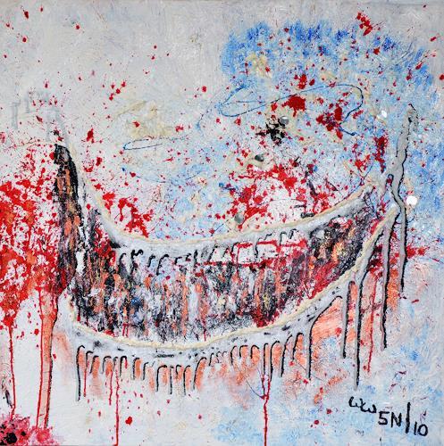 waldraut hool-wolf, Der Wächter *5N*, Abstract art, Abstract art, Abstract Art