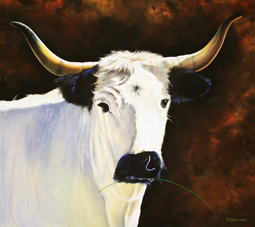 Wandmaler, Dere Gehörnte, Nature: Miscellaneous, Animals: Land, Realism, Expressionism