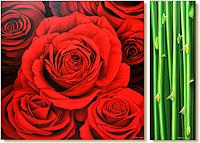 Wandmaler, Rose Rot-Schwarz