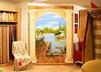 Wandmaler, Illusionsmalerei / Trompe-L'oeil-Malerei