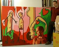 raphael-perez-People-Couples-Emotions-Love-Modern-Age-Primitive-Art-Naive-Art